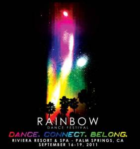 Rainbow Dance Festival Flyer - Front Side
