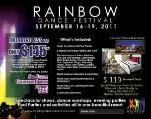 Rainbow Dance Festival Flyer - Back Side